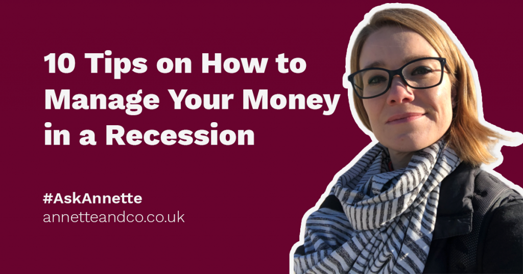A featured blog image highlighting the topic about 10 tips on how to manage your money in a recession