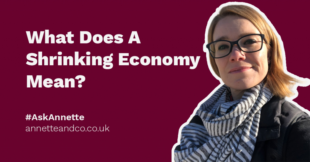 a featured image of a blog post highlighting the topic about what does a shrinking economy mean