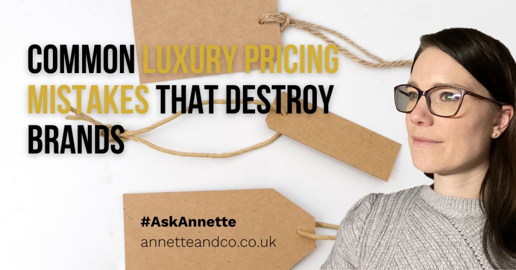 a blog featured image entitled Common Luxury Pricing Mistakes that Destroy Brands