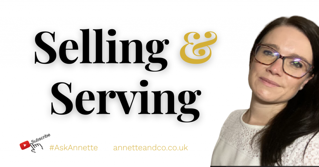 a blog featured image with a topic title about 5 Steps to Balance Selling and Serving Your Customers