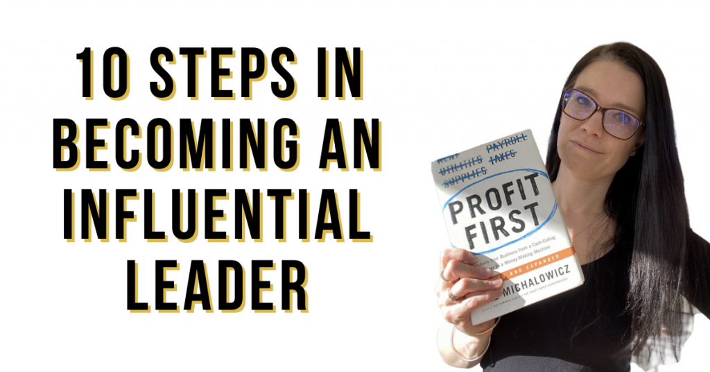 a blog featured image entitled 10 steps in becoming an influential leader