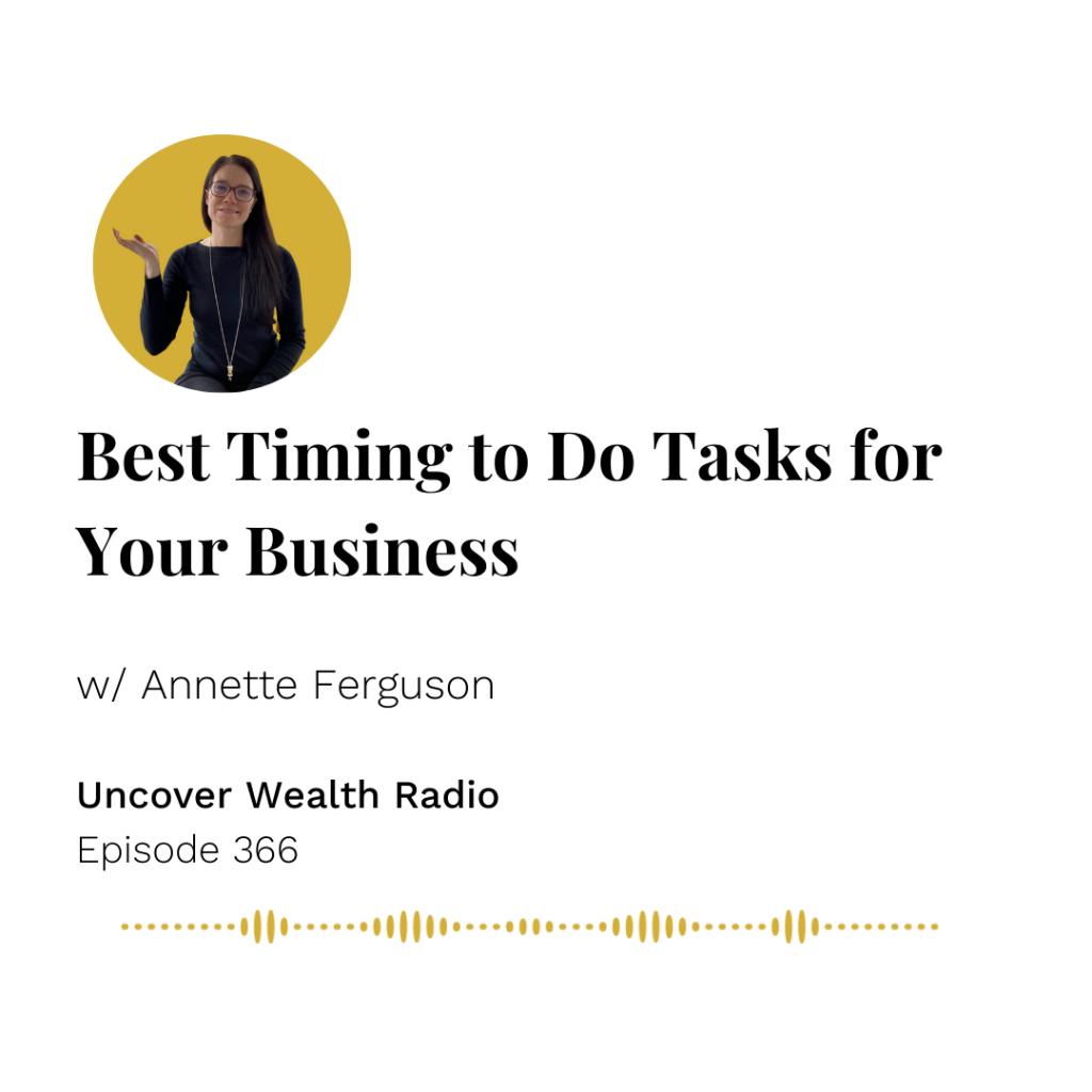 Annette Ferguson Podcast Banner - Uncover Wealth Radio 366