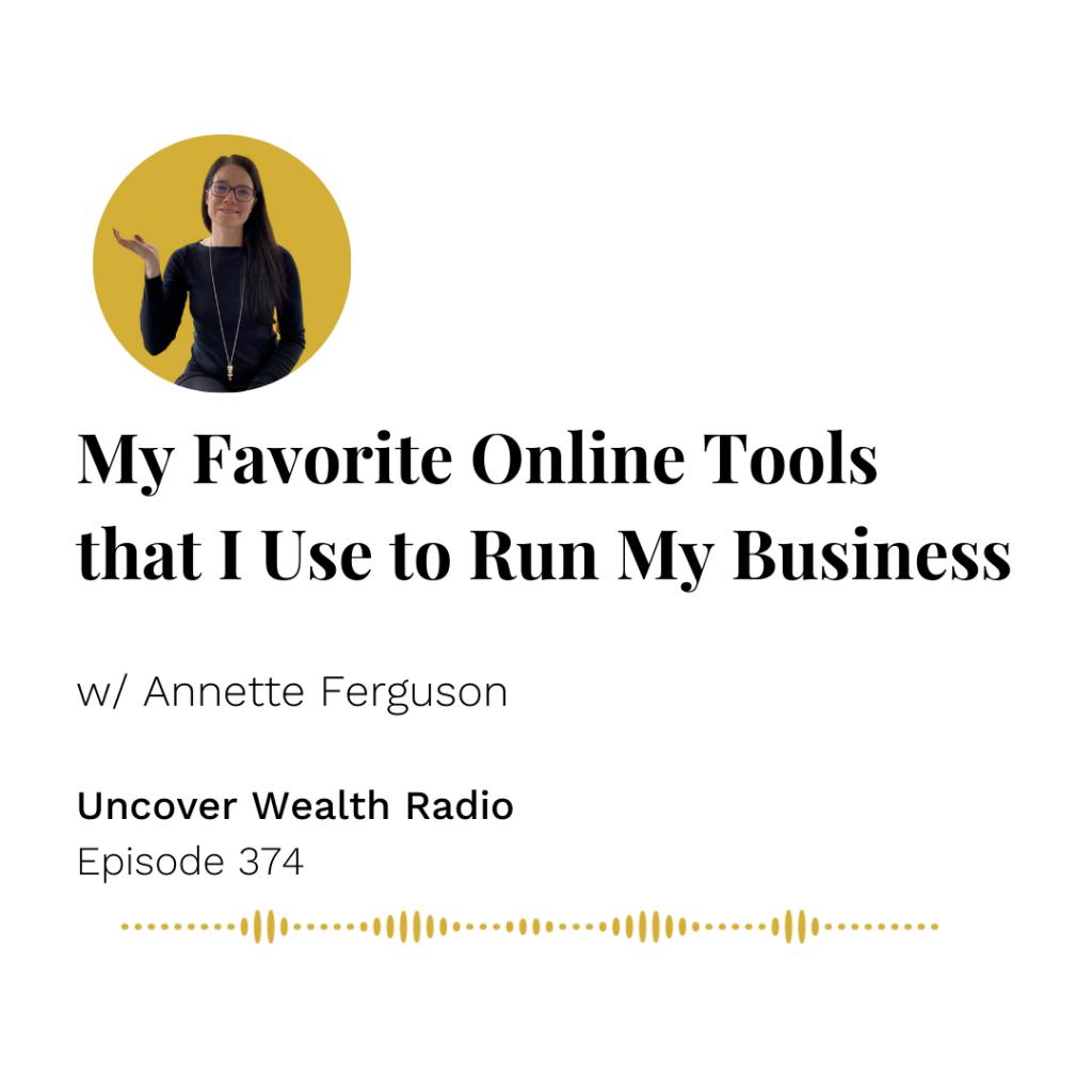 Annette Ferguson Podcast Banner - Uncover Wealth Radio 374
