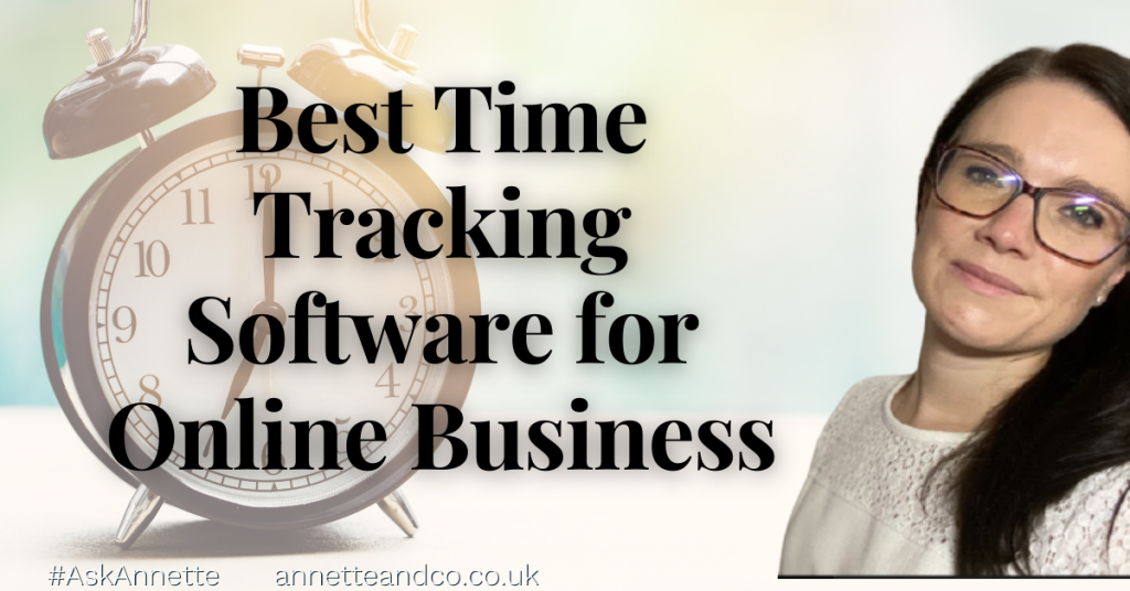 a blog featured image with a topic title about Best Time Tracking Software for Online Business