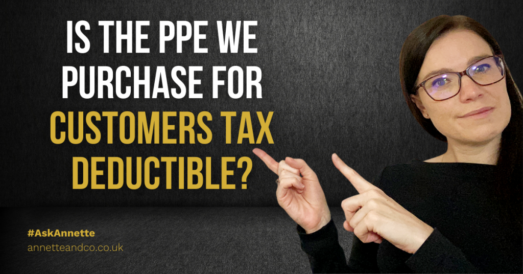 a blog featured image entitled Is The PPE We Purchase For Customers Tax Deductible?