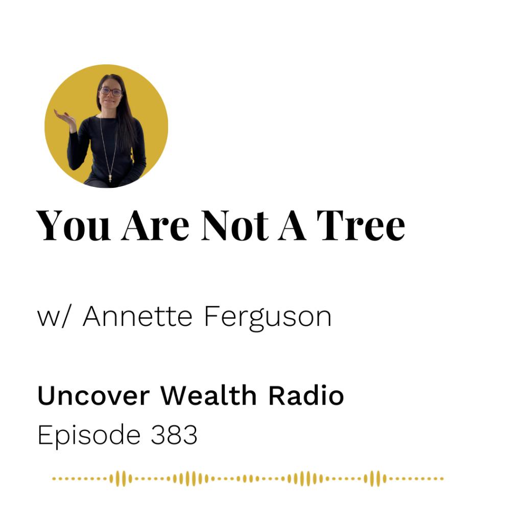 Annette Ferguson Podcast Banner - Uncover Wealth Radio 383